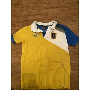 aeronautica militare polo multicolor yellow blue